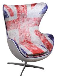 union jack spitfire aj egg chair by arne jacobsen vintage