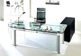 Glass Desk Office Furniture Modern Glass Desk Contemporary Computer Workstation Space Saving