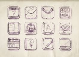 icon set sketch beautiful interfaces ui inspiration gallery