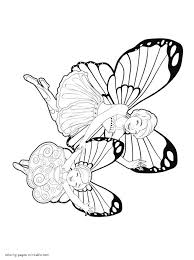 barbie mariposa and the fairy princess coloring pages for girls