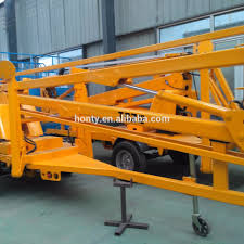 for warehousing electric control boom lift mounted trailer