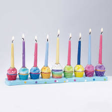 childrens menorah sculptured whimsical cupcakes menorah for children to get connected