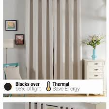Best Blackout Curtains For Bedroom Top Finel Solid Thermal Insulated Blackout Curtains For Living