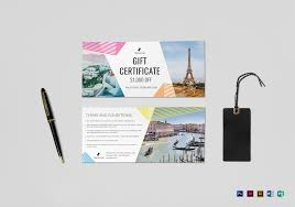 travel gift certificates travel gift certificate design template in psd word publisher