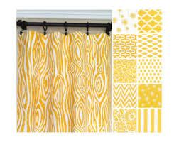 Yellow White Curtains Yellow Window Curtains Kitchen Curtains Yellow Curtain