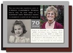 70th birthday invitations iidaemilia com