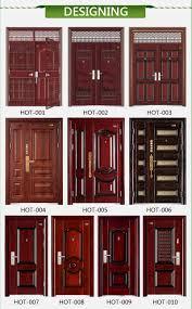 Door Grill Design Heat Transferred Painting Color Main Gate Steel Door Decorative