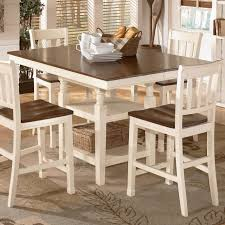 kitchen round dining table with leaf counter height dining set