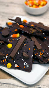 halloween candy dish candy covered halloween bark recipe tastemade
