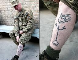 photos tattoos in the military photos abc news