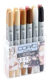copic ciao 12 pen set skin tones copic shop