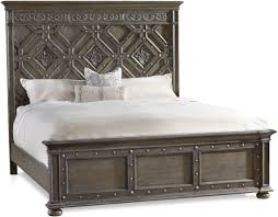hooker furniture bedroom vintage west king wood panel bed 5700 90266