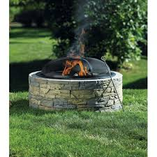 building a backyard fire pit living accents stacked stone fire pit outdoor fireplaces ace
