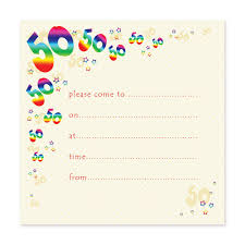 blank birthday invitation templates 50th birthday party invitation