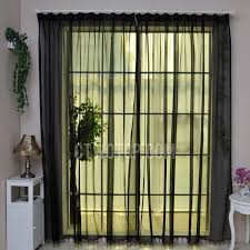 Black Sheer Curtains Sliding Door Or Porch Black Sheer Curtains