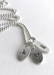 Stamped Initial Necklace Personalized Jewelry U2013 Tagged