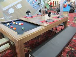 dining room table pool table