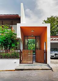 this l shaped home u0027s double height living room opens to the garden