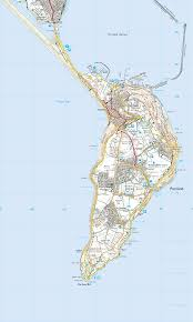 Map Of Portland by Isle Of Portland Circuit Print Walk South West Coast Path