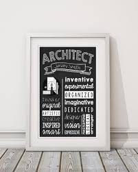 gifts for an architect architect wall art architect graduate gift architect personalized