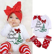 my christmas baby girl baby christmas clothes ebay