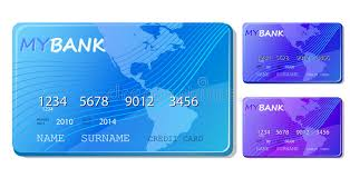 free debit card blue credit and debit card icon set royalty free stock images