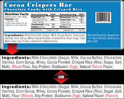 food labels food allergy research u0026 education