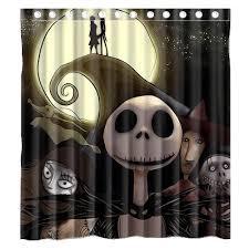 Discount Christmas Shower Curtains Amazon Com Halloween Nightmare Before Christmas Waterproof Shower