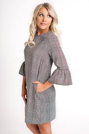 houndstooth dress carice houndstooth dress grey nanamacs boutique