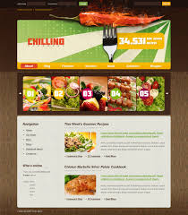 site de cuisine facile cuisine website template chillino cookbook cooking custom website