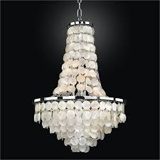 lighting fancy capiz chandelier for living room decoration with