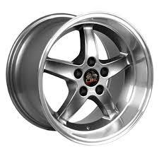17x10 mustang wheels ford mustang cobra r style replica wheel gunmetal 17x10 5