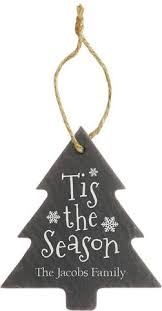slate ornaments we make it personal laser engraving