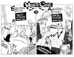 cartoon u2013 american vs european style healthcare henry kotula