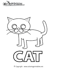 spell cat coloring page a free educational coloring printable
