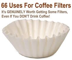 coffee filter uses 66 uses for coffee filters at home