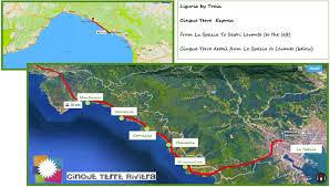 Italy Train Map From Rome To Monterosso Cinque Terre By Train Cinque Terre Riviera