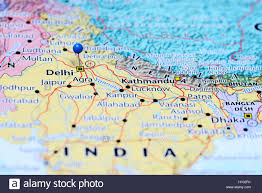 India On A Map by Delhi Pinned On A Map Of India Stock Photo Royalty Free Image
