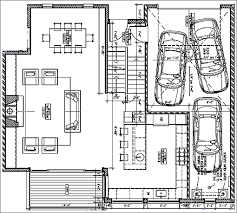 car service center floor plan tandem garage house plans free with tandem garage house plans