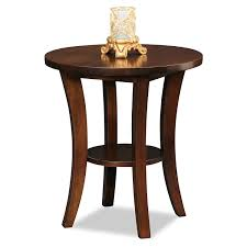 Furniture Tables Living Room by Amazon Com Leick Furniture Boa Collection Solid Wood Round Side