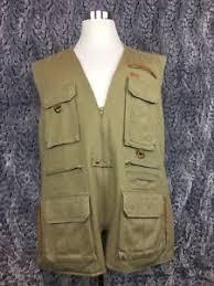 orvis photography fishing hunting safari vest khaki leather