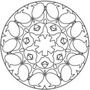 simple mandala coloring free printable coloring pages