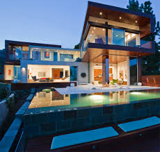 Sparkling Exterior Lighting For Luxury Modern Home Design With