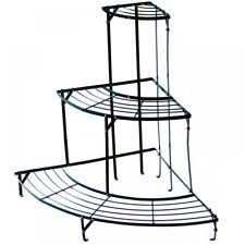3 tier wooden etagere folding garden plant stand outdoor patio