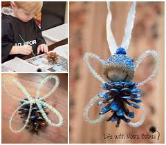 pinecone u0026 acorn fairy ornaments diy pinterest pinecone