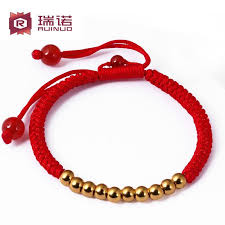 gold bead charm bracelet images Ping an sheng moreno gold baby bracelet red string of gold beads jpg