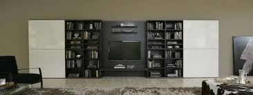 Bookcase System 242 Wall Unit With Bookcase System By Sangiacomo Italy