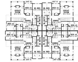 corner house plans 8 unit house plan with corner decks 18511wb architectural