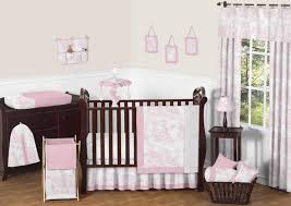 sweet jojo designs pink toile collection 11pc baby crib bedding