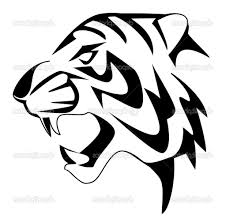 simple tiger face drawing tiger coloring pages getcoloringpages